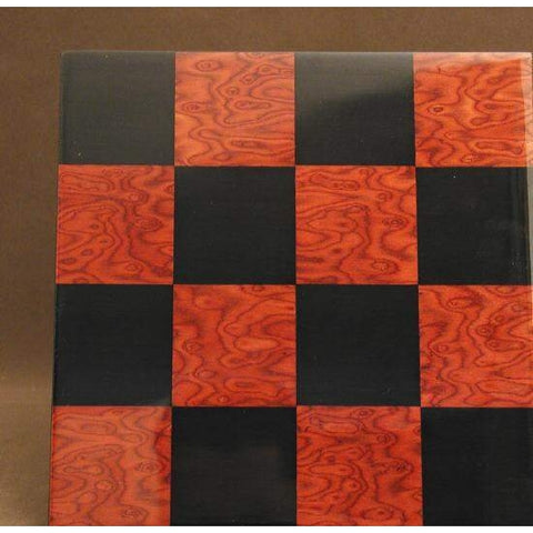 "15.75"" Black and Red Briar Glossy Board, Ferrer, Spain, 50400BR, by WorldWise Imports-Chess Board-Floor Mirror Gallery"