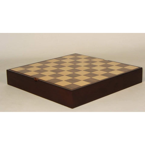 "16.25"" Walnut & Maple veneer Chest, WW Chess, China, 50400WCT, by WorldWise Imports-Chess Board-Floor Mirror Gallery"