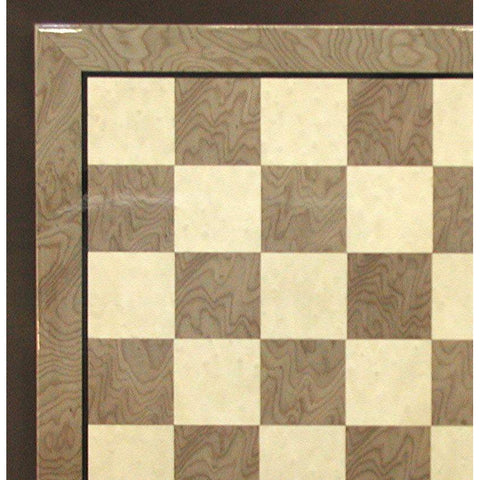 "17"" Grey & Ivory Glossy Brd, Ferrer, Spain, 50440GY, by WorldWise Imports-Chess Board-Floor Mirror Gallery"