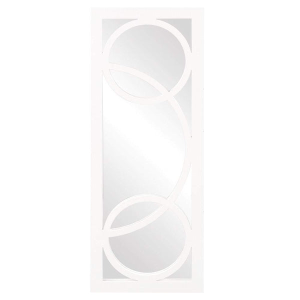 Howard Elliott Dynasty White Mirror 38H x 15W x 1D - 51262-Wall Mirror-Floor Mirror Gallery