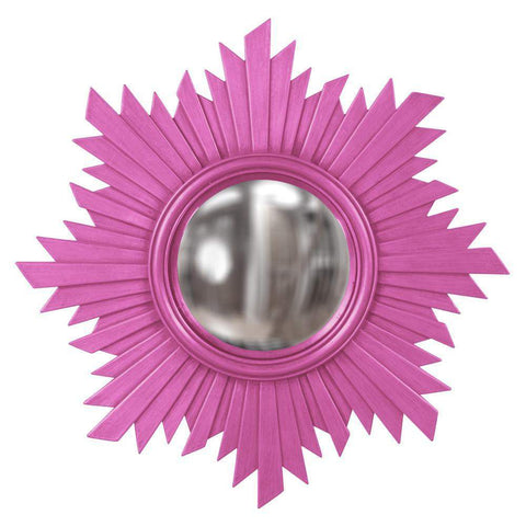 Howard Elliott Euphoria Hot Pink Mirror 21H x 21W x 1D - 51268HP-Wall Mirror-Floor Mirror Gallery