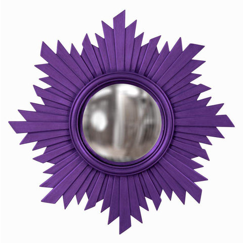 Howard Elliott Euphoria Royal Purple Mirror 21H x 21W x 1D - 51268RP-Wall Mirror-Floor Mirror Gallery