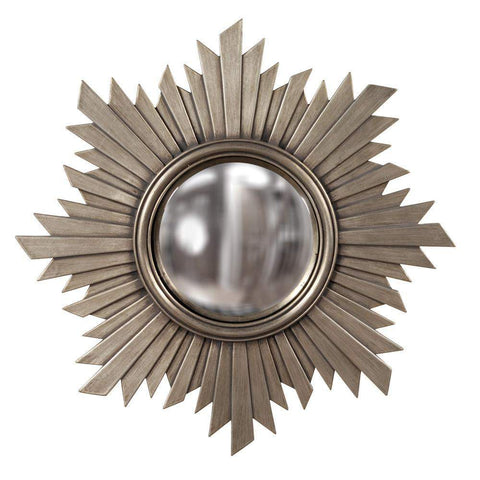 Howard Elliott Euphoria Brushed Nickel Mirror 21H x 21W x 1D - 51268-Wall Mirror-Floor Mirror Gallery