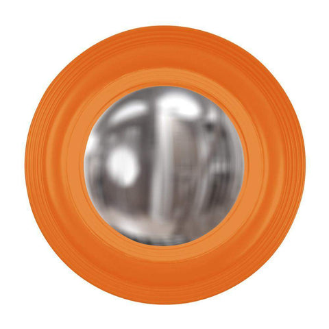 Howard Elliott Soho Orange Mirror 14H x 14W x 2D - 51276O-Wall Mirror-Floor Mirror Gallery