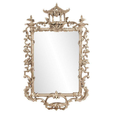 Howard Elliott Pagoda Ornate Mirror 68H x 42W x 4D - 51280-Wall Mirror-Floor Mirror Gallery