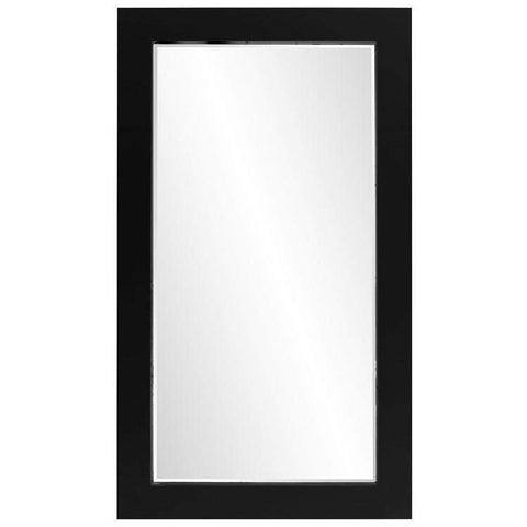 Howard Elliott Titan Black Mirror 84H x 48W x 3D - 51282-Wall Mirror-Floor Mirror Gallery