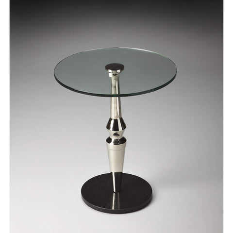 Butler Salinger Round Glass Accent Table 5145220-Accent Table-Floor Mirror Gallery