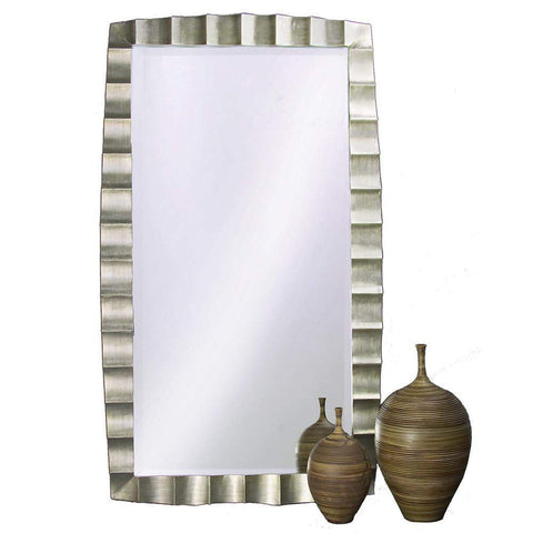 Howard Elliott Bangkok Silver Leaf Leaner Mirror 48H x 84W x 2D - 5150-Wall Mirror-Floor Mirror Gallery