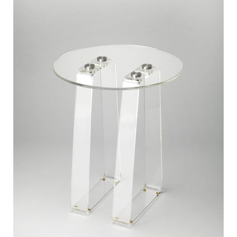Butler Blanca Clear Acrylic Side Table 5166335-Accent Table-Floor Mirror Gallery