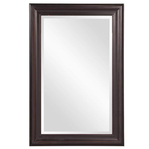Howard Elliott George Oil Rubbed Bronze Mirror 33H x 25W x 1D - 53047-Wall Mirror-Floor Mirror Gallery