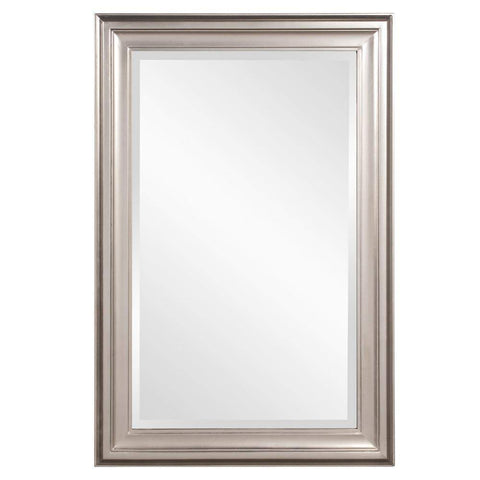 Howard Elliott George Bright Silver Mirror 33H x 25W x 1D - 53048-Wall Mirror-Floor Mirror Gallery