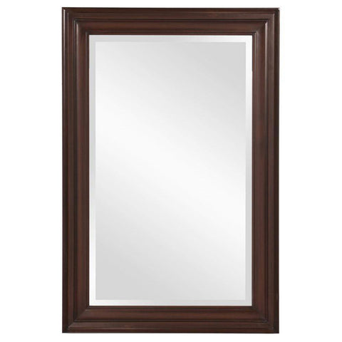 Howard Elliott George Rectangular Brown Mirror 33H x 25W x 1D - 53049-Wall Mirror-Floor Mirror Gallery