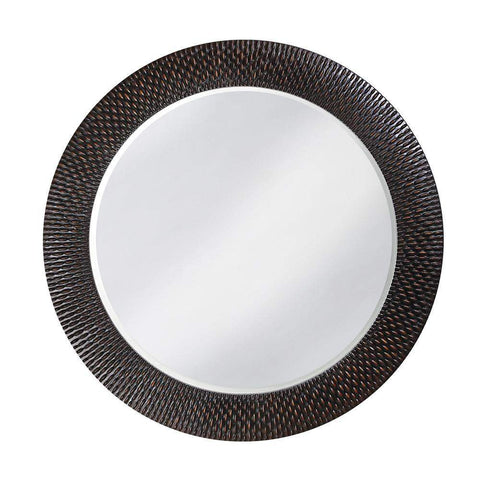 Howard Elliott Bergman Black Round Mirror - Small 32H x 32W x 1D - 53062-Wall Mirror-Floor Mirror Gallery