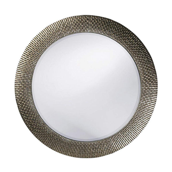 Howard Elliott Bergman Silver Round Mirror - Small 32H x 32W x 1D - 53063-Wall Mirror-Floor Mirror Gallery