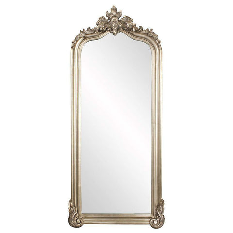 Howard Elliott Tudor Silver Floor Mirror 87H x 38W x 3D - 53073-Wall Mirror-Floor Mirror Gallery