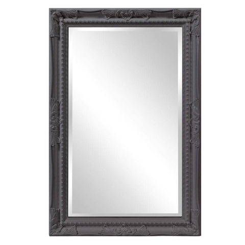 Howard Elliott Queen Ann Rectangular Glossy Charcoal Mirror 33H x 25W x 1D - 53081CH-Wall Mirror-Floor Mirror Gallery