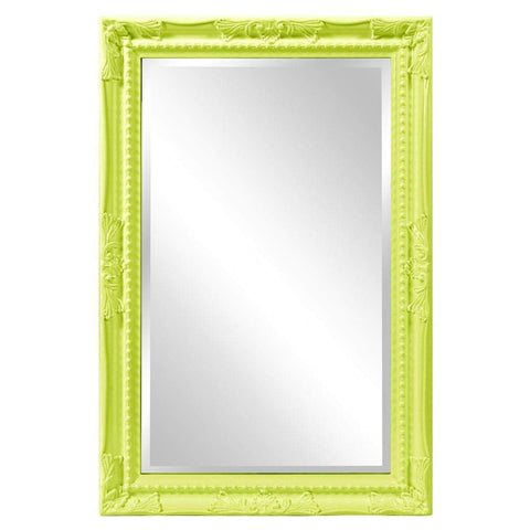 Howard Elliott Queen Ann Rectangular Glossy Green Mirror 33H x 25W x 1D - 53081MG-Wall Mirror-Floor Mirror Gallery