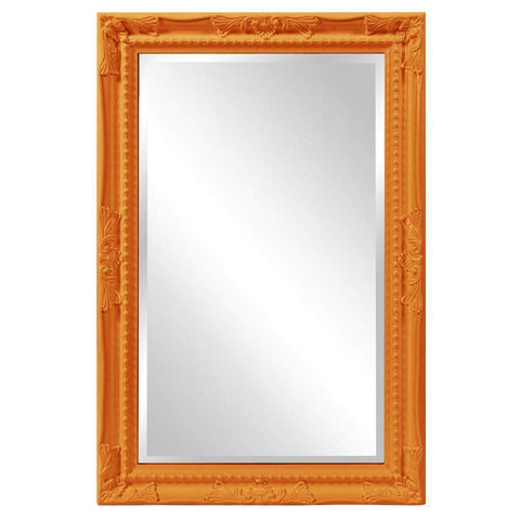 Howard Elliott Queen Ann Rectangular Glossy Orange Mirror 33H x 25W x 1D - 53081O-Wall Mirror-Floor Mirror Gallery