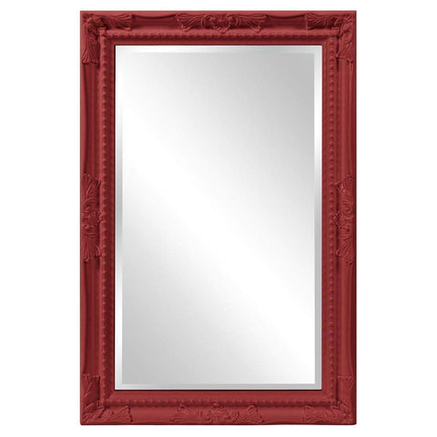 Howard Elliott Queen Ann Rectangular Glossy Red Mirror 33H x 25W x 1D - 53081R-Wall Mirror-Floor Mirror Gallery