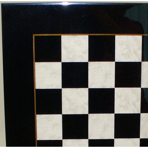 Blk & White wood veneer Brd, Ital Fama, Italy, 531BW, by WorldWise Imports-Chess Board-Floor Mirror Gallery