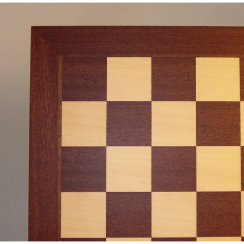 "21"" Mahogany and Maple Board, Ferrer, Spain, 55520M, by WorldWise Imports-Chess Board-Floor Mirror Gallery"