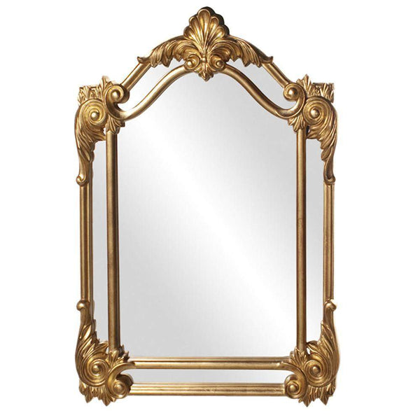 Howard Elliott Cortland Gold Mirror 47H x 32W x 1D - 56004-Wall Mirror-Floor Mirror Gallery