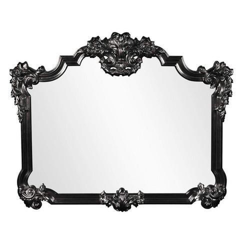 Howard Elliott Avondale Black Mirror 48H x 39W x 2D - 56006BL-Wall Mirror-Floor Mirror Gallery