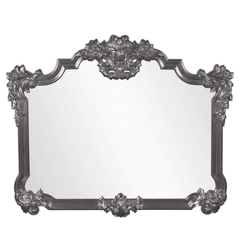 Howard Elliott Avondale Charcoal Gray Mirror 48H x 39W x 2D - 56006CH-Wall Mirror-Floor Mirror Gallery