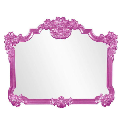 Howard Elliott Avondale Hot Pink Mirror 48H x 39W x 2D - 56006HP-Wall Mirror-Floor Mirror Gallery