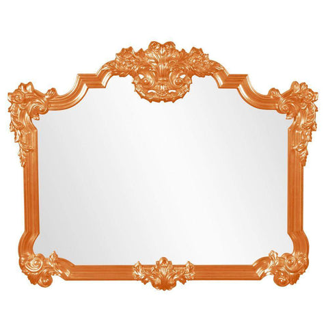 Howard Elliott Avondale Orange Mirror 48H x 39W x 2D - 56006O-Wall Mirror-Floor Mirror Gallery