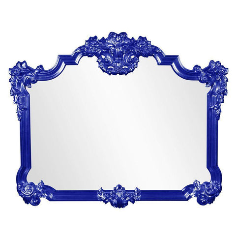 Howard Elliott Avondale Royal Blue Mirror 48H x 39W x 2D - 56006RB-Wall Mirror-Floor Mirror Gallery