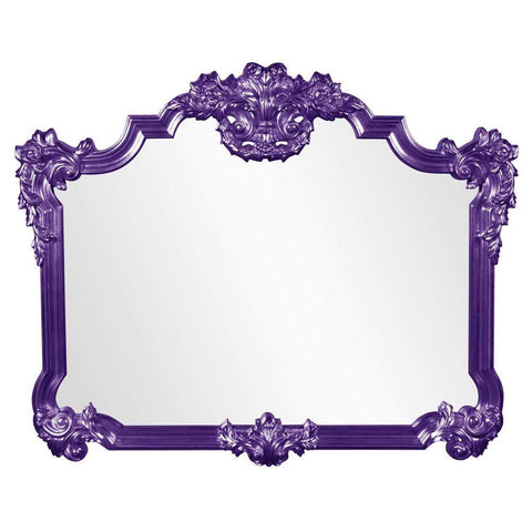 Howard Elliott Avondale Royal Purple Mirror 48H x 39W x 2D - 56006RP-Wall Mirror-Floor Mirror Gallery
