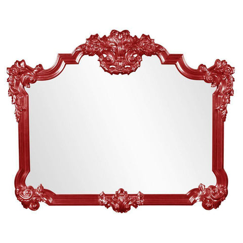 Howard Elliott Avondale Red Mirror 48H x 39W x 2D - 56006R-Wall Mirror-Floor Mirror Gallery