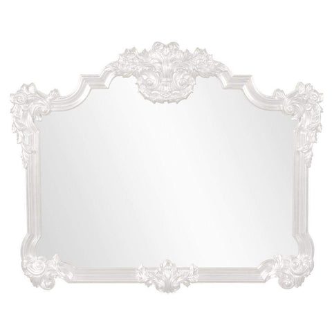 Howard Elliott Avondale White Mirror 48H x 39W x 2D - 56006W-Wall Mirror-Floor Mirror Gallery