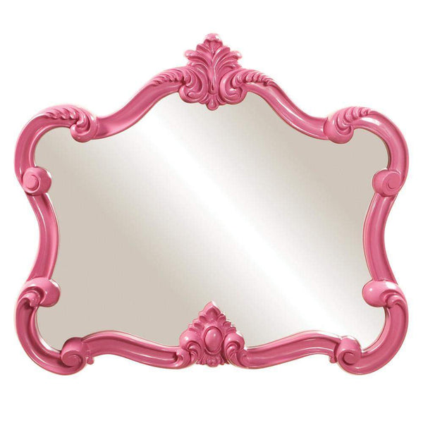 Howard Elliott Veruca Pink Mirror 32H x 28W x 2D - 56030-Wall Mirror-Floor Mirror Gallery