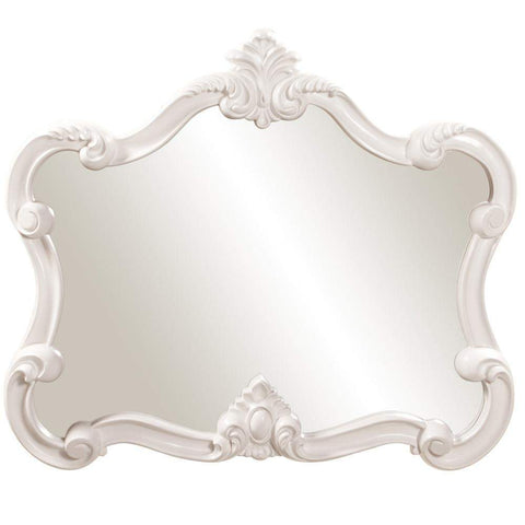Howard Elliott Veruca White Mirror 32H x 28W x 2D - 56032-Wall Mirror-Floor Mirror Gallery