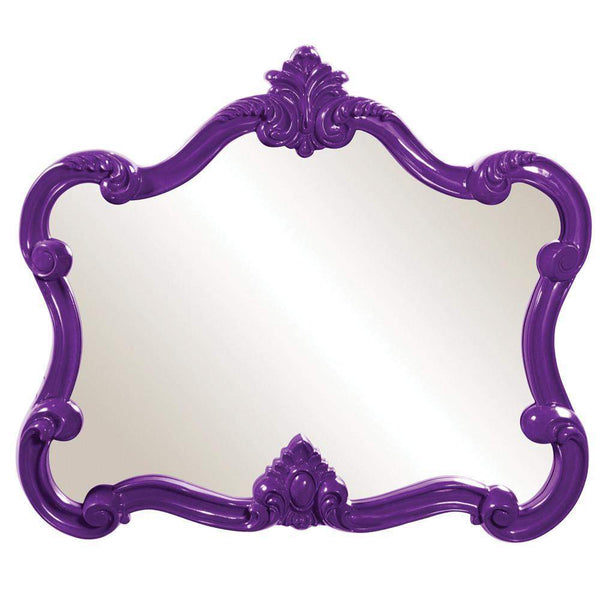 Howard Elliott Veruca Purple Mirror 32H x 28W x 2D - 56033-Wall Mirror-Floor Mirror Gallery