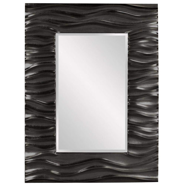 Howard Elliott Zenith Black Mirror 39H x 31W x 2D - 56042BL-Wall Mirror-Floor Mirror Gallery