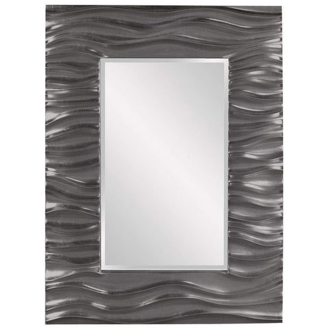 Howard Elliott Zenith Charcoal Gray Mirror 39H x 31W x 2D - 56042CH-Wall Mirror-Floor Mirror Gallery