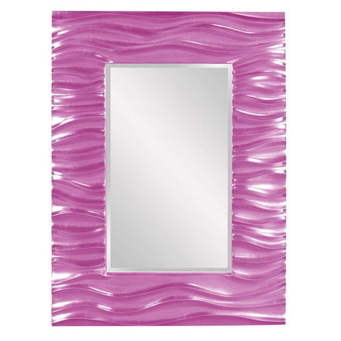 Howard Elliott Zenith Hot Pink Mirror 39H x 31W x 2D - 56042HP-Wall Mirror-Floor Mirror Gallery