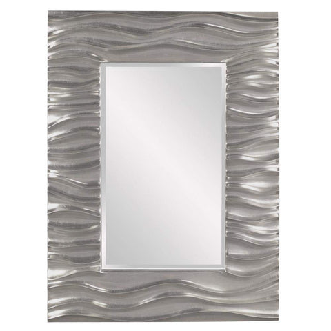 Howard Elliott Zenith Nickel Mirror 39H x 31W x 2D - 56042N-Wall Mirror-Floor Mirror Gallery