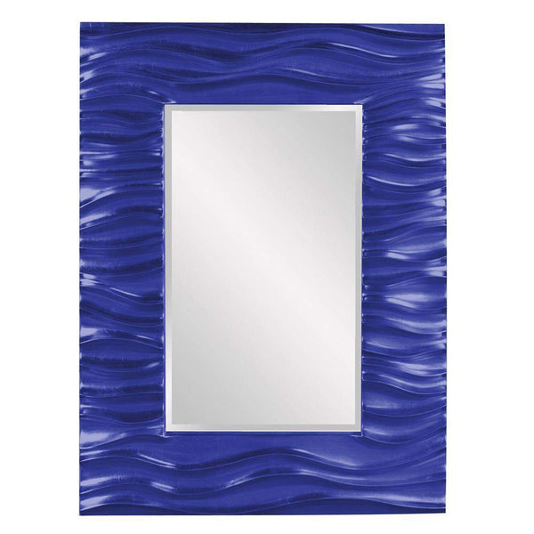 Howard Elliott Zenith Royal Blue Mirror 39H x 31W x 2D - 56042RB-Wall Mirror-Floor Mirror Gallery