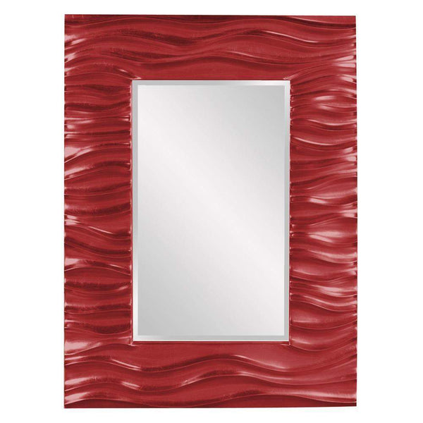 Howard Elliott Zenith Red Mirror 39H x 31W x 2D - 56042R-Wall Mirror-Floor Mirror Gallery