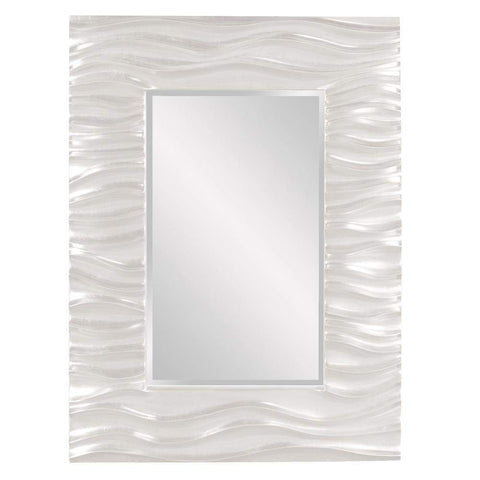 Howard Elliott Zenith White Mirror 39H x 31W x 2D - 56042W-Wall Mirror-Floor Mirror Gallery