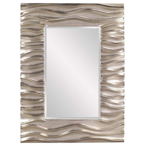 Howard Elliott Zenith Silver Mirror 39H x 31W x 2D - 56042-Wall Mirror-Floor Mirror Gallery