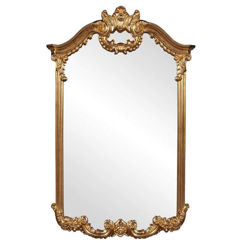 Howard Elliott Roman Gold Mirror 51H x 32W x 3D - 56048-Wall Mirror-Floor Mirror Gallery