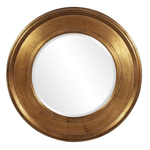 Howard Elliott Valor Gold Mirror 37H x 37W x 2D - 56055-Wall Mirror-Floor Mirror Gallery