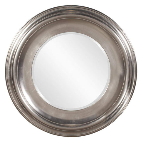 Howard Elliott Christian Round Silver Mirror 39H x 39W x 3D - 56084-Wall Mirror-Floor Mirror Gallery