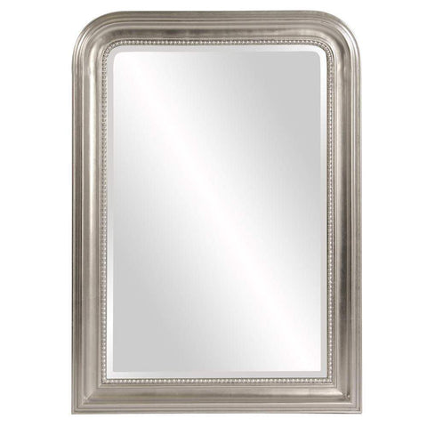 Howard Elliott Sterling Arched Silver Mirror 42H x 30W x 1D - 56177-Wall Mirror-Floor Mirror Gallery