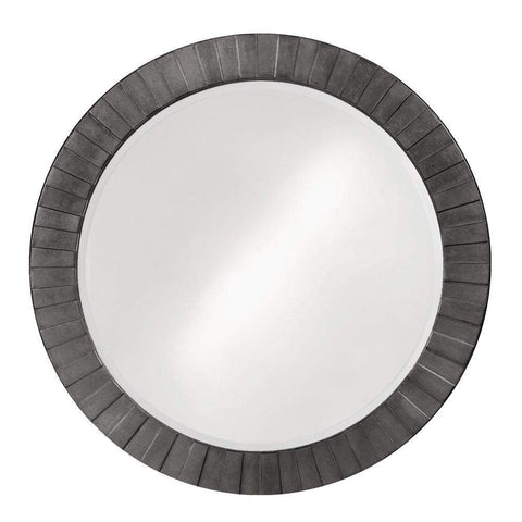 Howard Elliott Serenity Charcoal Gray Mirror 35H x 35W x 1D - 6002CH-Wall Mirror-Floor Mirror Gallery